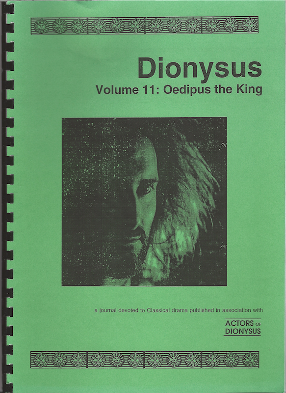 Vol 11: Oedipus The King