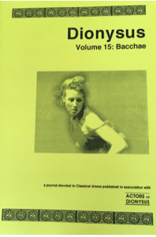 Vol 15: Bacchae
